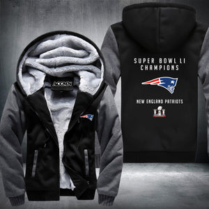 Patriots Thick Fleece Jacket - Fitness Elephants