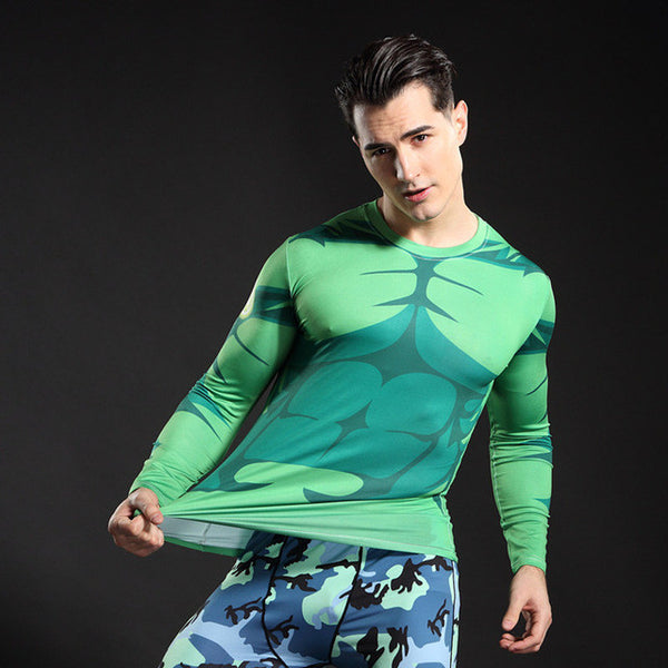 The Green Hulk Longsleeve Compression Shirt