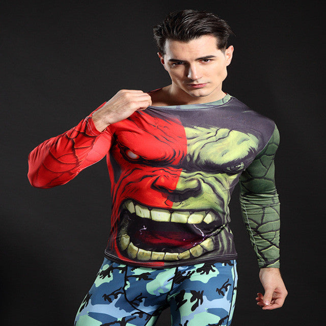 The Hulk Longsleeve Compression Shirt - Fitness Elephants