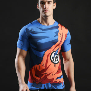 Dragon Ball Z Goku Compression Shirt - Fitness Elephants