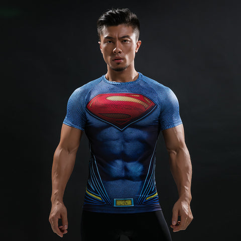 Superman Blue Compression Shirt - Fitness Elephants