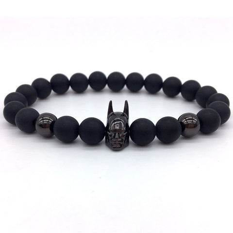 Batman Stone Beads Bracelet - Fitness Elephants