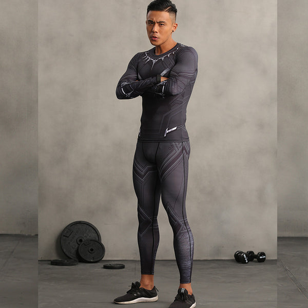 Black Panther Compression Pants - Fitness Elephants