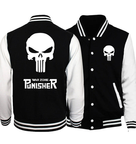 Punisher Baseball Jacket - Fitness Elephants