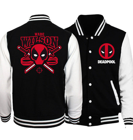 Deadpool Baseball Jacket - Fitness Elephants