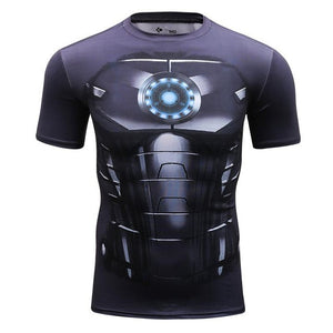 Iron Man Compression Shirt - Fitness Elephants
