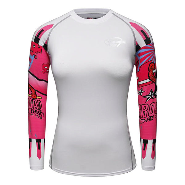 Women's White Compression Long Sleeve
