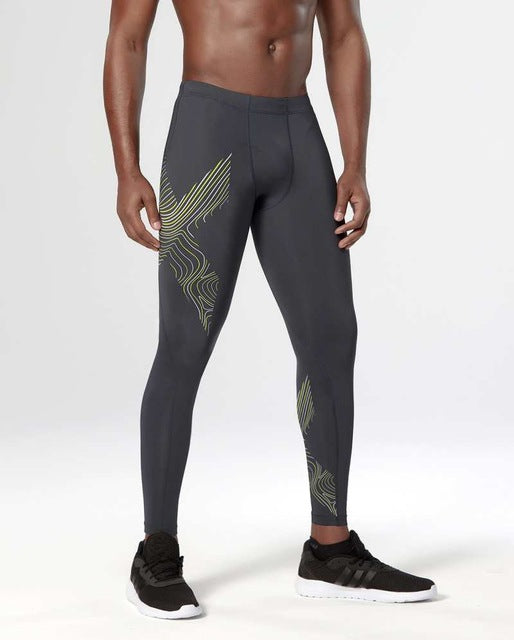 Gray Compression Tight Pants - Fitness Elephants