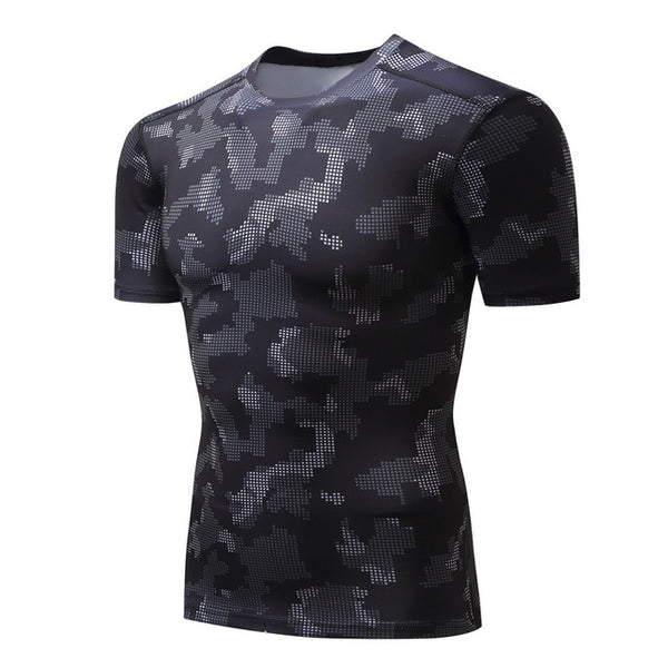 Basic Patterned Compression Shirt - Fitness Elephants