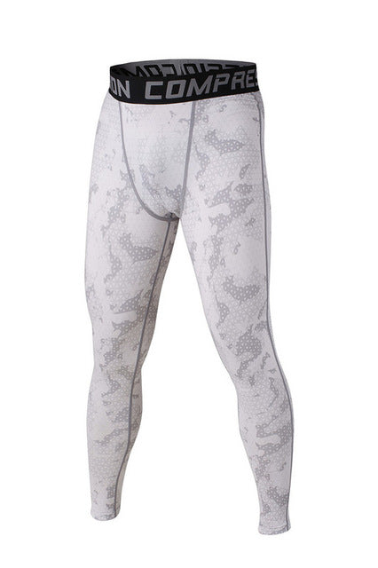 Dots White Compression Pants - Fitness Elephants