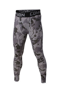 Dots Gray Compression Pants - Fitness Elephants