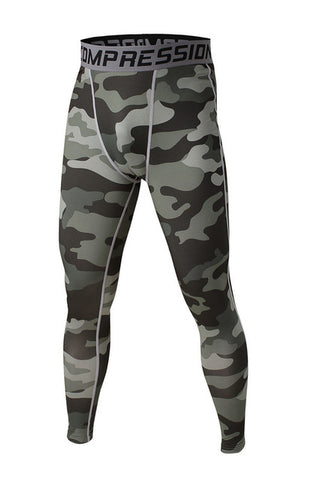 Army Green Compression Pants - Fitness Elephants
