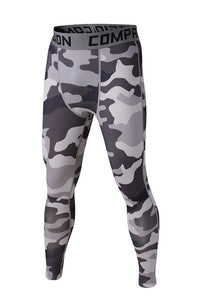 Army Gray Compression Pants - Fitness Elephants