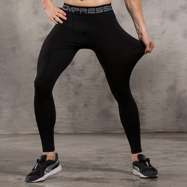 Black Black Compression Pants - Fitness Elephants