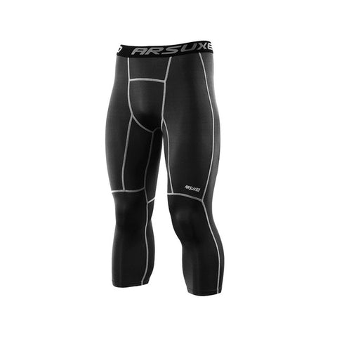 3/4 Men's Compression Sport Pants - Fitness Elephants
