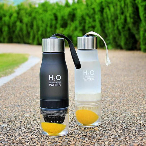 Water Bottle - H2O Fruit Infusion Bottle - Fitness Elephants