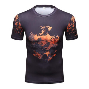 Orange Flakes Compression Shirt - Fitness Elephants