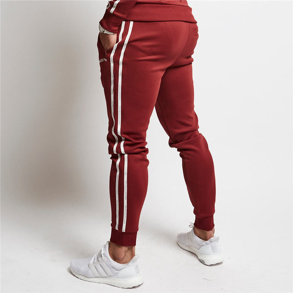 Red Striped Joggers - Fitness Elephants