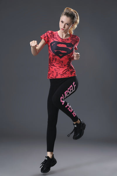 Red Superman Compression Shirt - Fitness Elephants