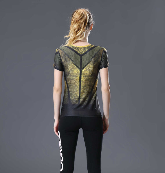 The Flash Yellow Compression Shirt - Fitness Elephants