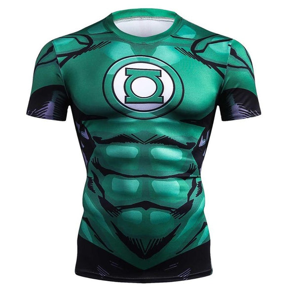 Green Lantern Compression Shirt - Fitness Elephants