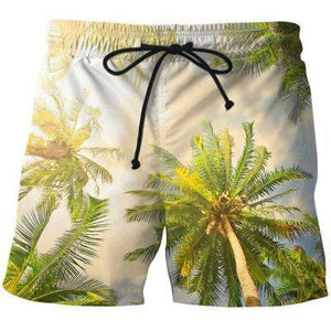 Between The Palm Tree Short Pants - Fitness Elephants