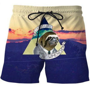 Live Slow Short Pants - Fitness Elephants