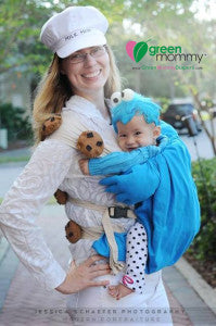 Milk and Cookies Costume with Green Mommy Diapers Logo