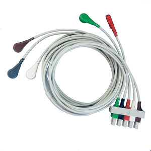 Cables and Sensors LAB5-90S0 Compatible 5 Lead ECG Lead Cable