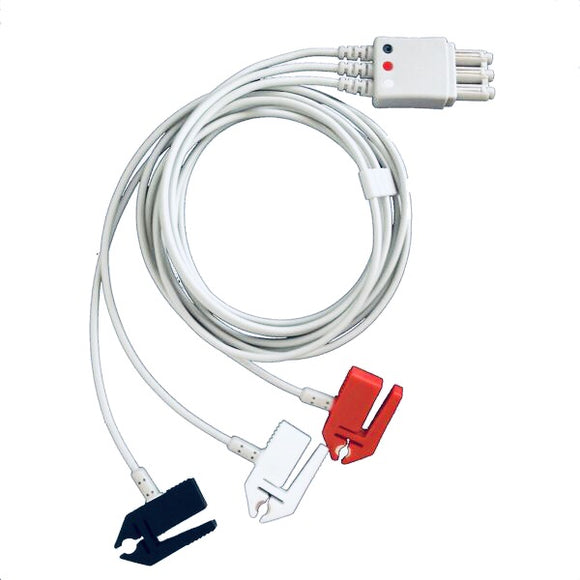 Cables and Sensors LP3-90P0 Compatible 3 Lead ECG Lead Cable