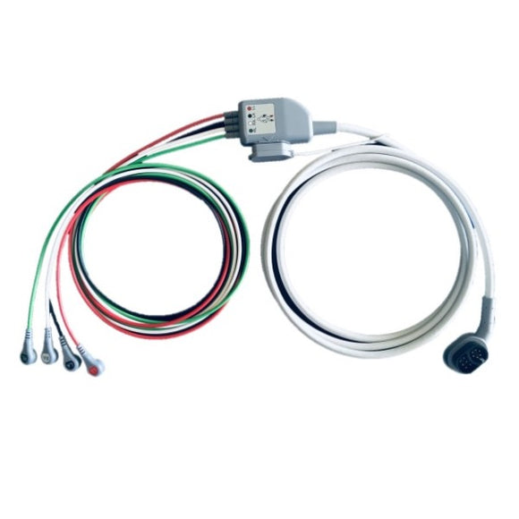 Zoll X Series Compatible 4 Lead ECG Trunk Cable