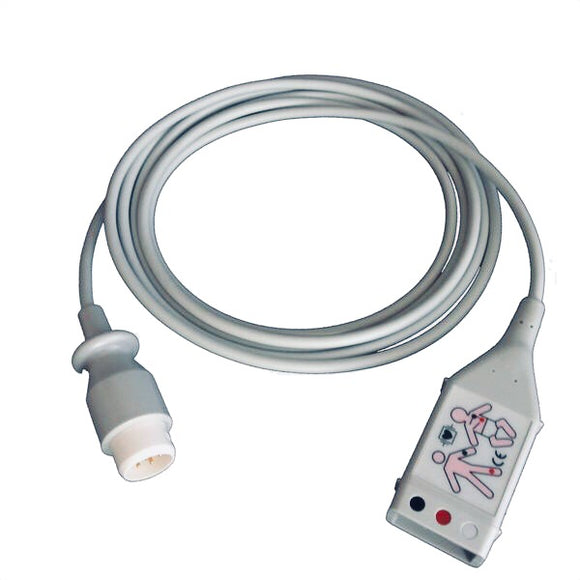 Philips M1580A Compatible 3 Lead ECG Trunk Cable