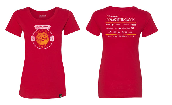 Women's Red Event Tee
