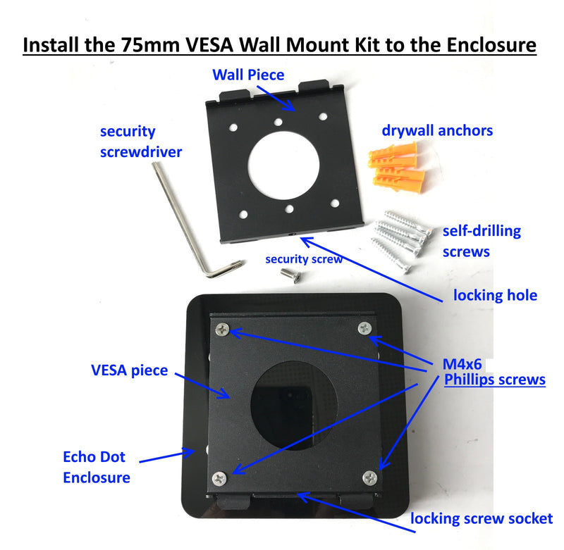 Amazon Echo Dot 2nd & 3rd Gen Wall Mounting Kit