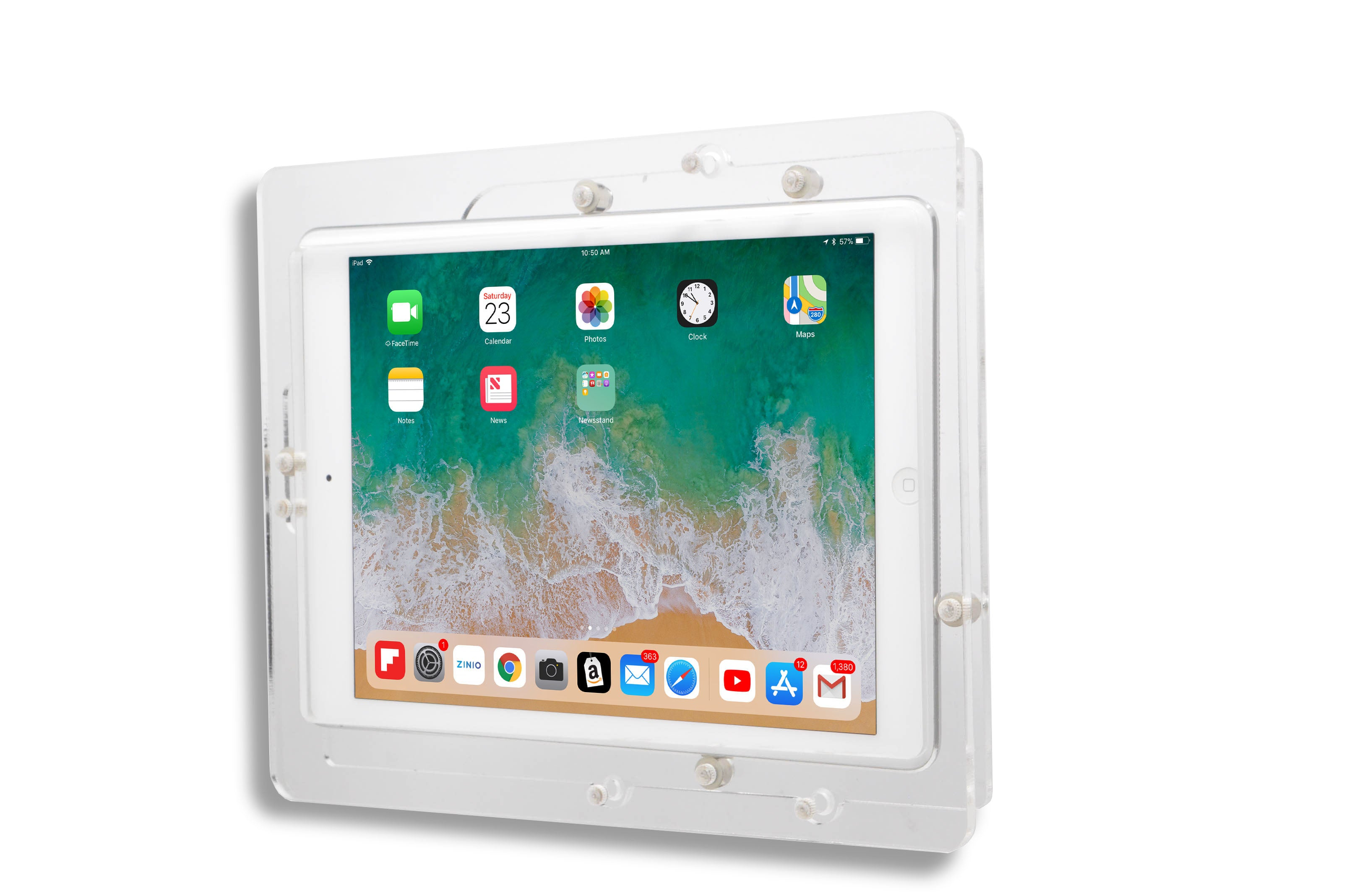 iPad, iPad Air, Security Acrylic VESA Kit with Wall Mount or Desktop Stand options