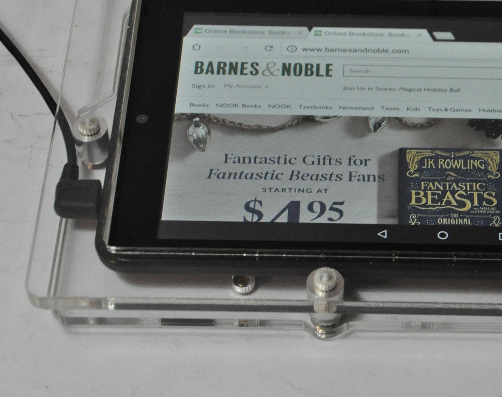 "Barnes & Noble Nook 7"" Tablet Security Anti-Theft Acrylic Security VESA Kit"