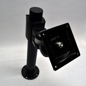Black Pole Desktop Stand for VESA 75mm Mount