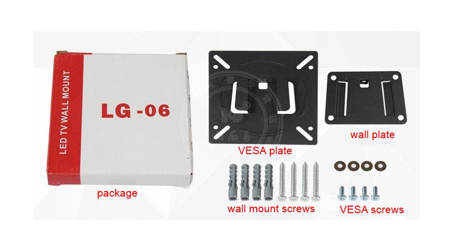 antitheft low profile vesa wall mount kit for lcdled tvs displays