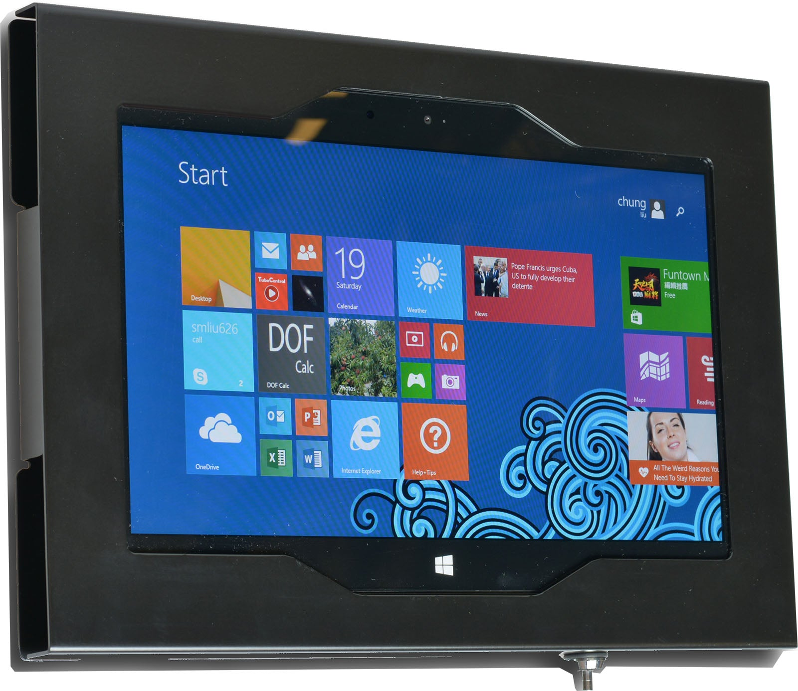 MS Surface RT, Surface 2, Surface Pro 2, Surface 3, Surface Go Security Wall Mount Metal Enclosure VESA Ready
