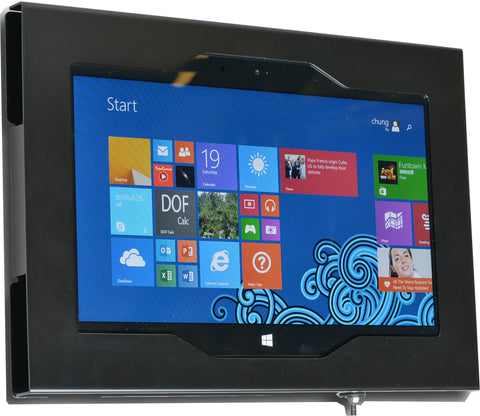 MS Surface RT, Surface 2, Surface Pro 2 Security Wall Mount Metal Enclosure VESA Ready