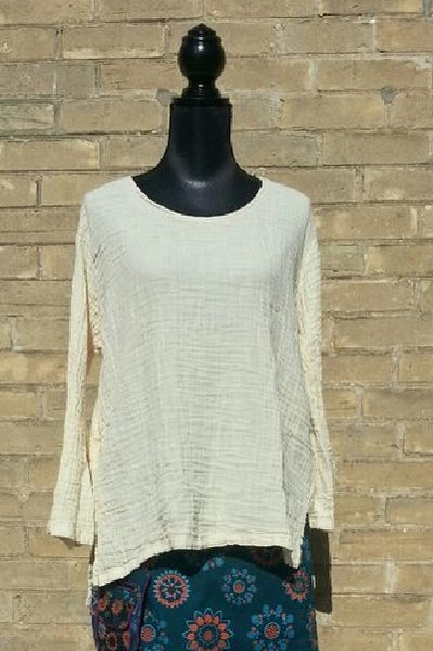 Casual Cotton Long Sleeve Top