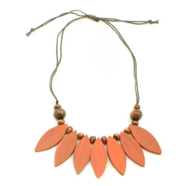 Wooden Petals Necklace