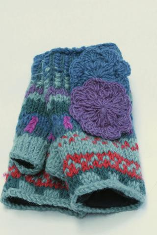 Cozy Knit Flower Mittens