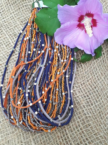 Purple & Orange Necklace