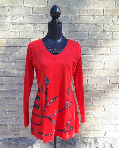 Crimson Leaf Top