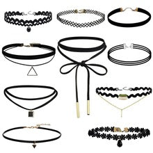 AMIRA BLACK 10 PIECES CHOKER SET
