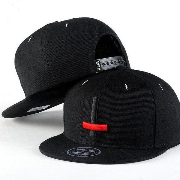 Hip Hop Caps Embroidery Black Red Cross Snapback
