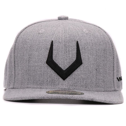 HIP HOP CAP GRAY WOOL SNAPBACK