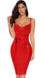 ANAIS TIE BANDAGE RED DRESS