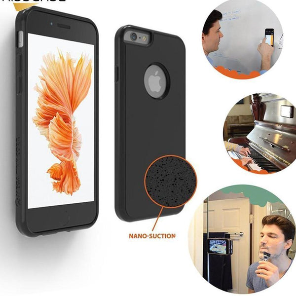 Free Anti-Gravity Selfie Sticky Soft Silicone Phone Case Cover